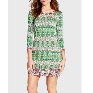 BCBGMAXAZRIA 'Ania' Print Jersey Shift Dress